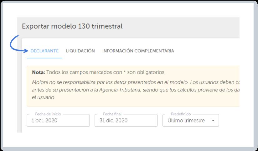 Crear el Modelo 130