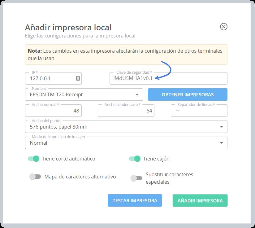 Añadir el IP y la Contraseña