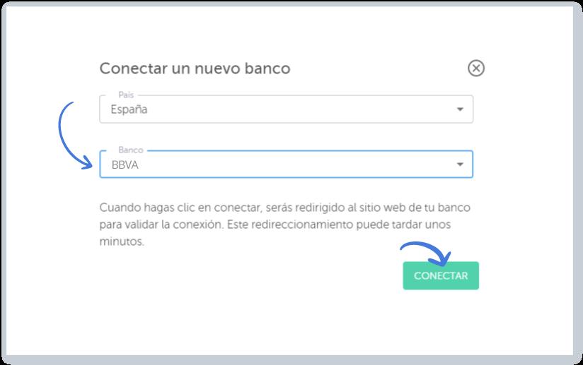 Conectar un nuevo banco