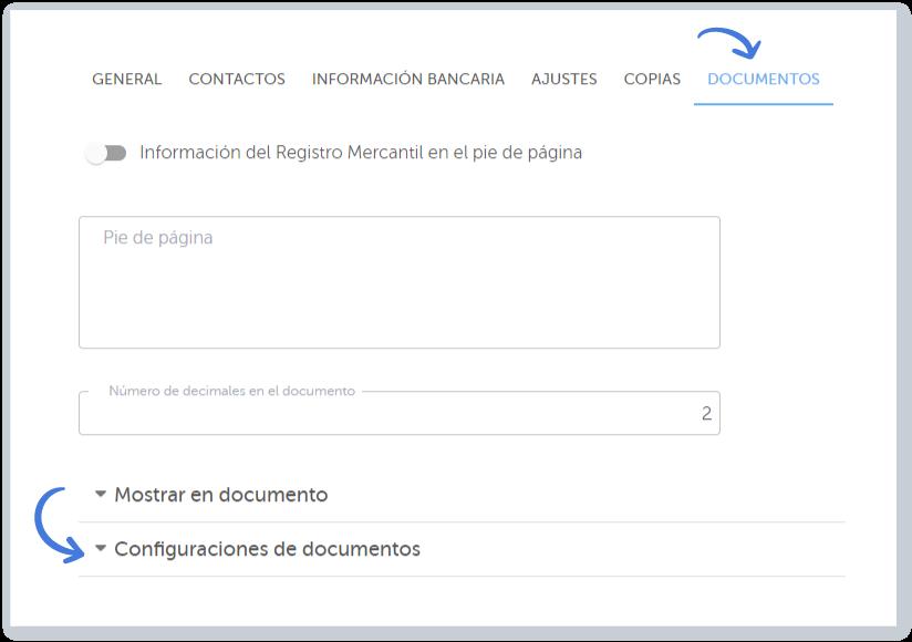 Elige el separador de Documentos