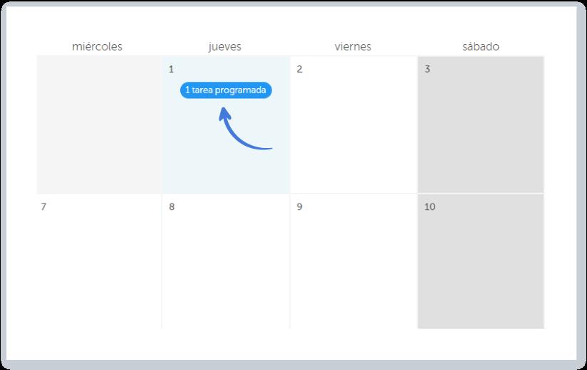 Crear un evento directamente en el calendario