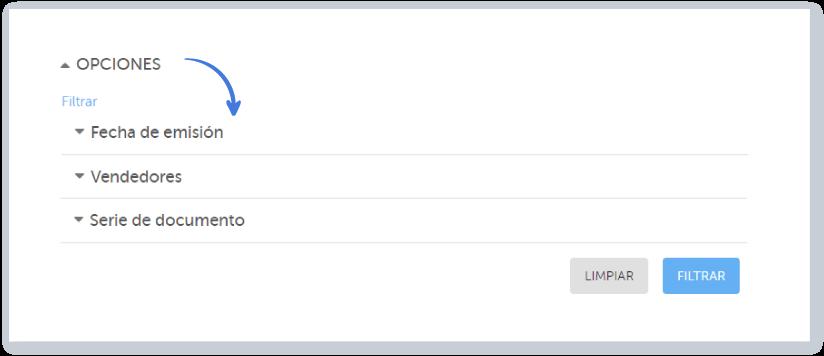 En Opciones puedes filtrar los documentos